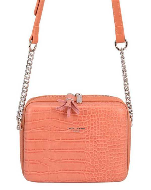 کیف زنانه دوشی مدل cm5660 گلبهی دیوید جونز