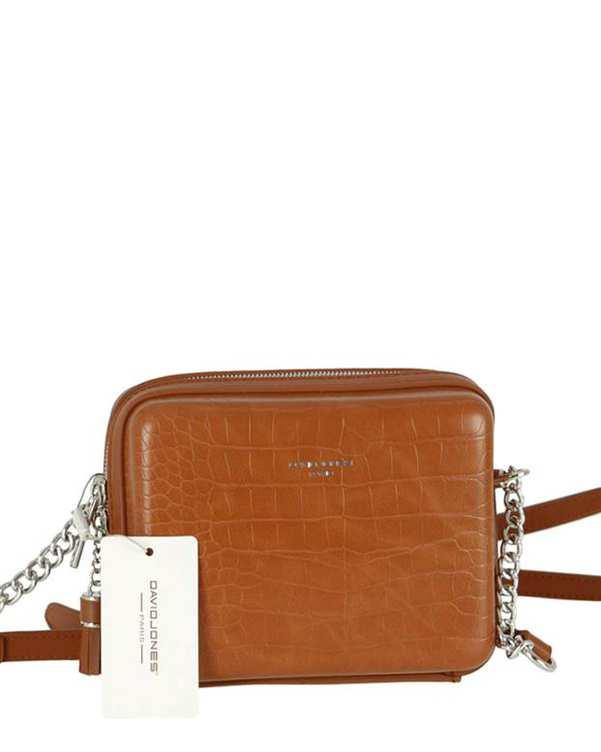 کیف زنانه دوشی مدل cm5660 قهوه ای دیوید جونز