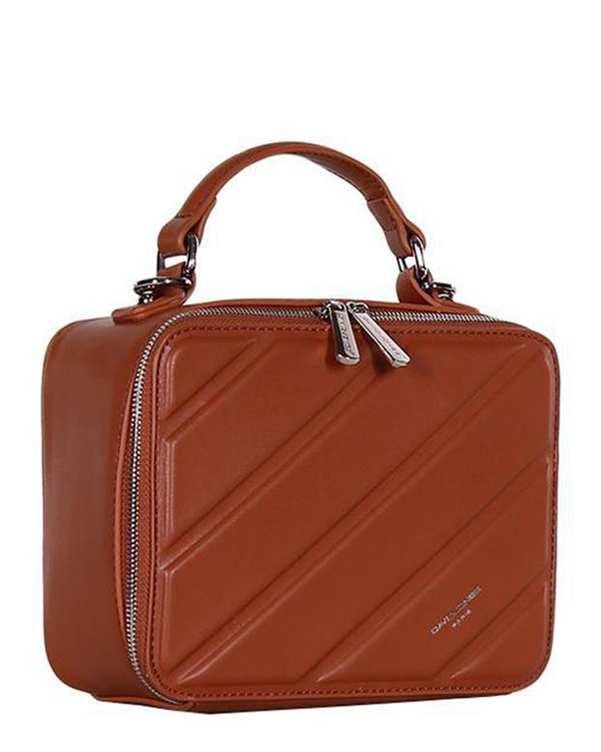 کیف زنانه دوشی مدل 3-6272 قهوه ای دیوید جونز
