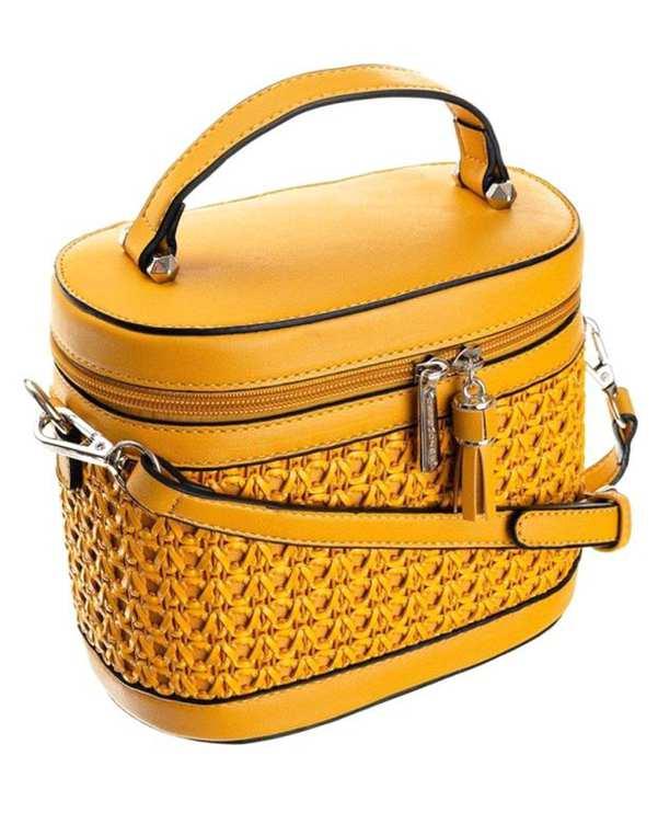کیف زنانه دوشی مدل 5691 زرد دیوید جونز
