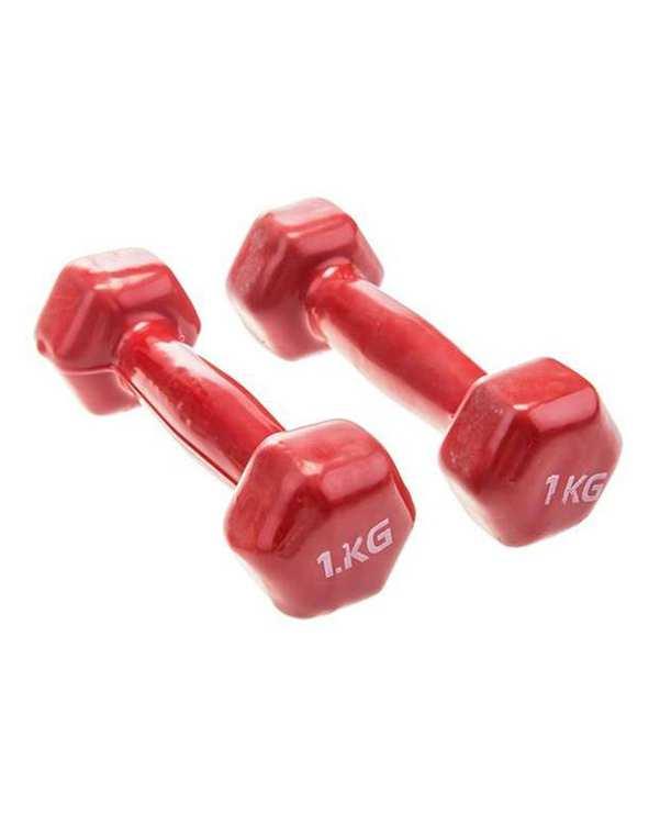 دمبل ایروبیک 2 عددی 1 کیلو گرمی قرمز