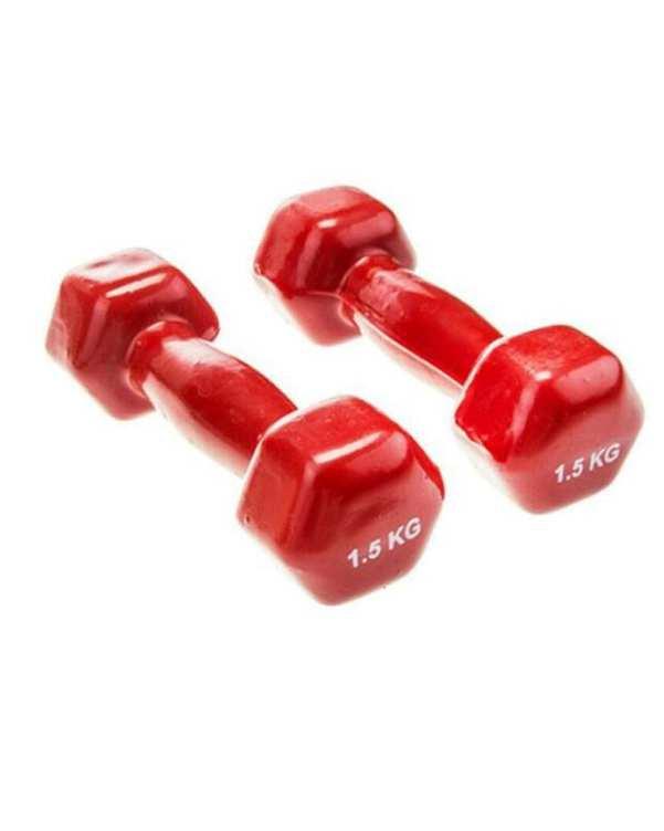 دمبل ایروبیک 2 عددی 1/5 کیلو گرمی قرمز