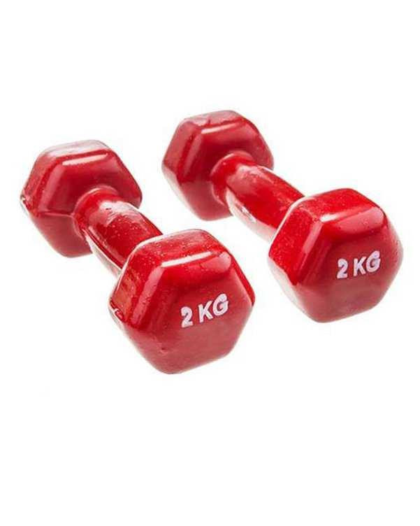 دمبل ایروبیک 2 عددی 2 کیلو گرمی قرمز