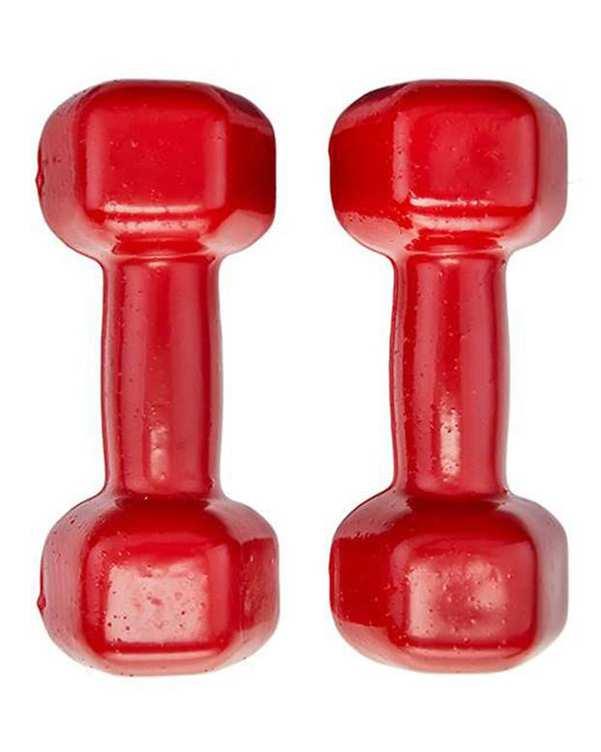 دمبل ایروبیک 2 عددی 5 کیلو گرمی قرمز