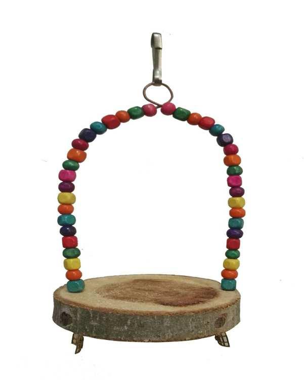 اسباب بازی تاب چوب و مهره دار پرندگان