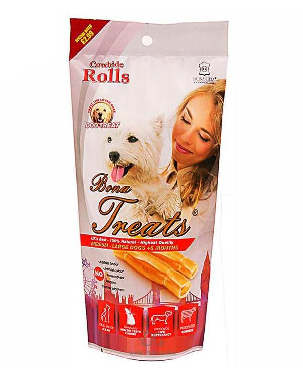 تشویقی سگ رولی ژلاتینی 80 گرمی بوناژلا
