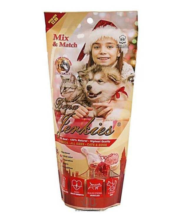 تشویقی مخصوص سگ و گربه میکس گوشت 80 گرمی بوناژلا
