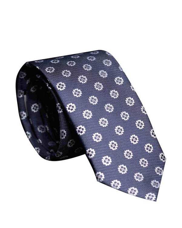 کراوات مردانه کد 1034 سرمه ای گلدار اکسوری