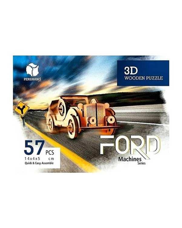 پازل سه بعدی چوبی مدل Ford پرشنگ