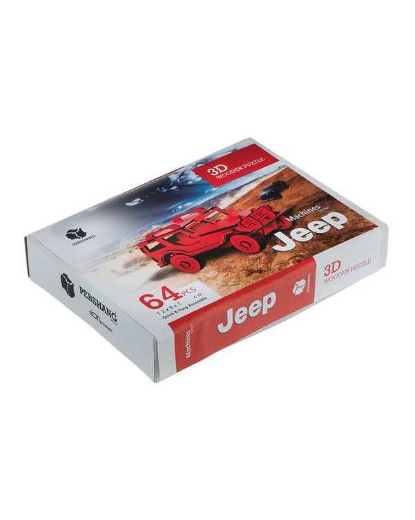 پازل سه بعدی چوبی مدل Jeep پرشنگ