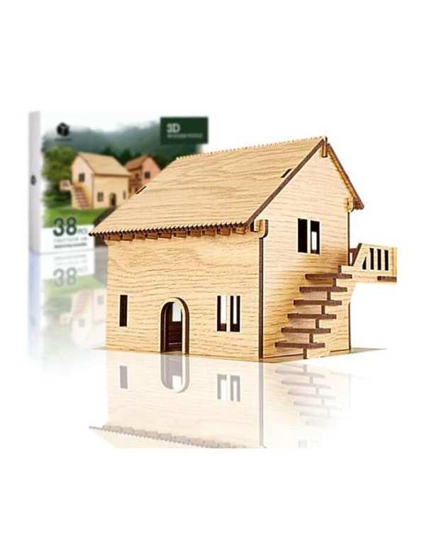 پازل سه بعدی چوبی مدل Dream Home پرشنگ