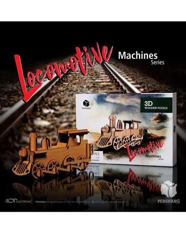 پازل سه بعدی چوبی مدل Locomotive پرشنگ