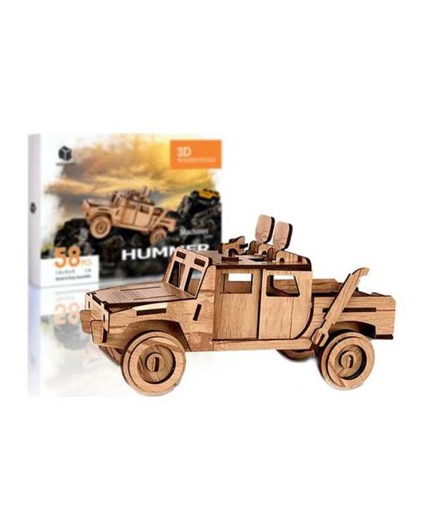 پازل سه بعدی چوبی مدل Hummer پرشنگ