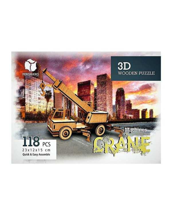 پازل سه بعدی چوبی مدل Crane پرشنگ