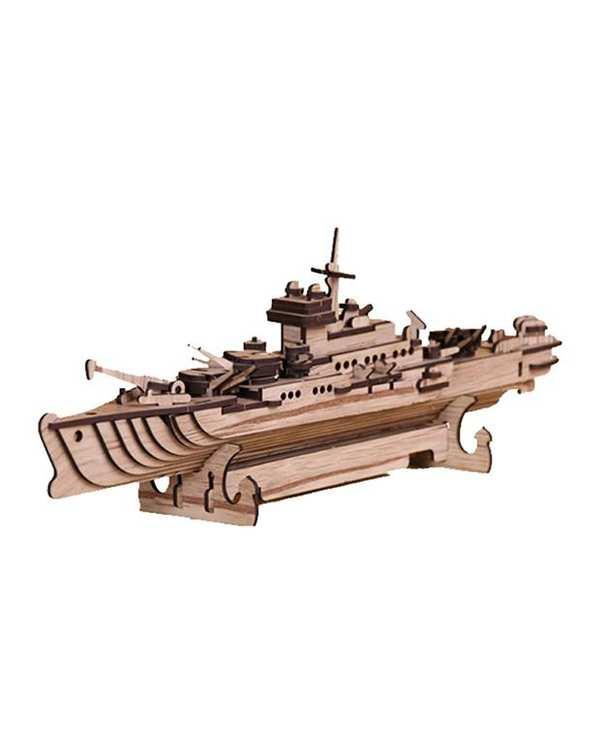 پازل سه بعدی چوبی مدل Battleship پرشنگ
