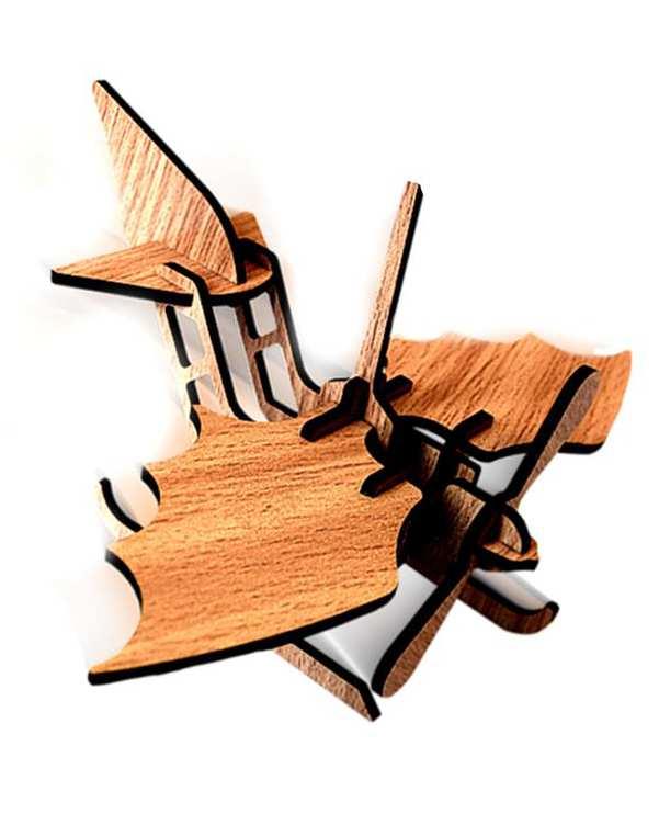 پازل سه بعدی چوبی مدل Seaplane پرشنگ