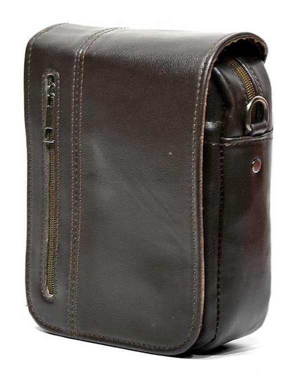 کیف چرم مردانه دوشی مدل SB03 قهوه ای استار بگ