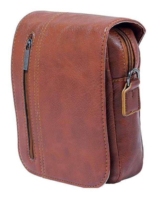 کیف چرم مردانه دوشی مدل SB03 عسلی استار بگ