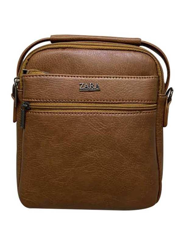 کیف چرم دوشی مدل SB06 عسلی استار بگ