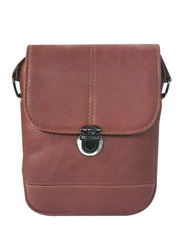 کیف چرم دوشی مدل SB12 قهوه ای استار بگ