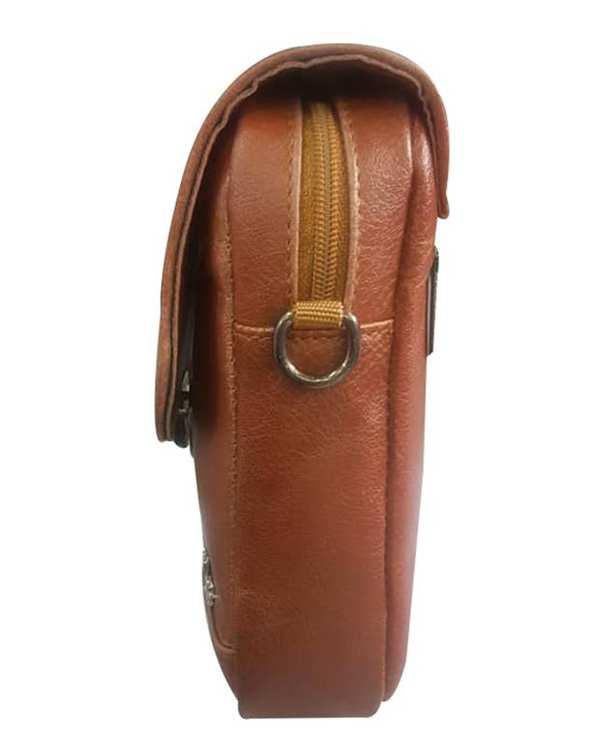 کیف چرم دوشی مدل SB12 عسلی استار بگ