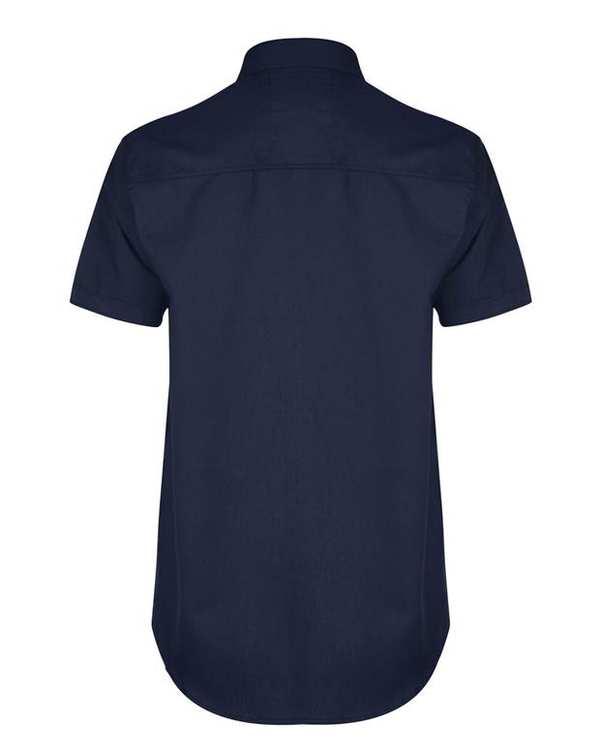 پیراهن مردانه آستین کوتاه نخی سرمه ای والیانت