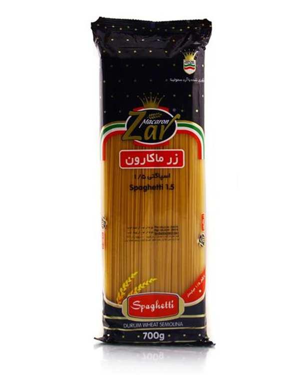 ماکارونی قطر 1.5 رشته ای 700 گرمی زر ماکارون