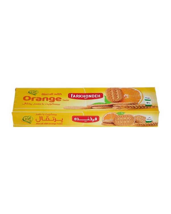 بیسکویت پرتقالی 130 گرمی فرخنده