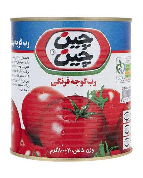 رب گوجه فرنگی 800 گرمی چین چین