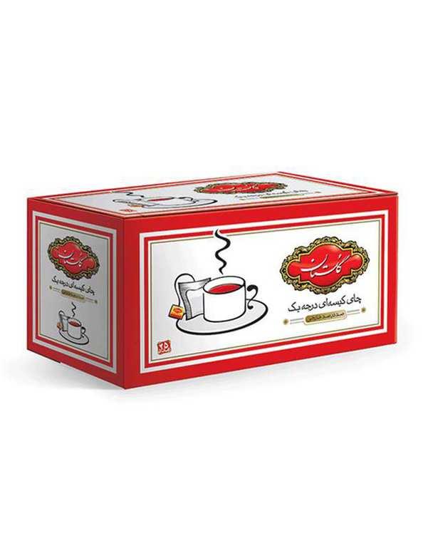 چای کیسه ای درجه یک 50 گرمی گلستان بسته 25 عددی