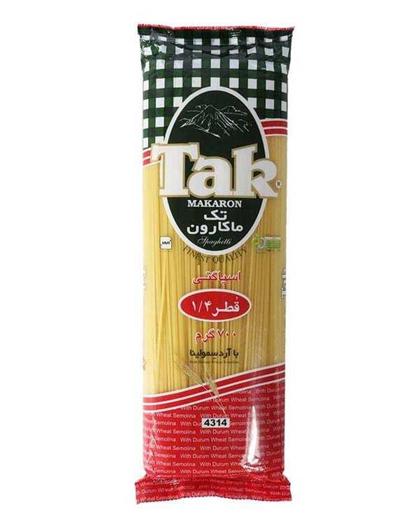 اسپاگتی قطر 1.4 رشته ای 700 گرمی تک ماکارون