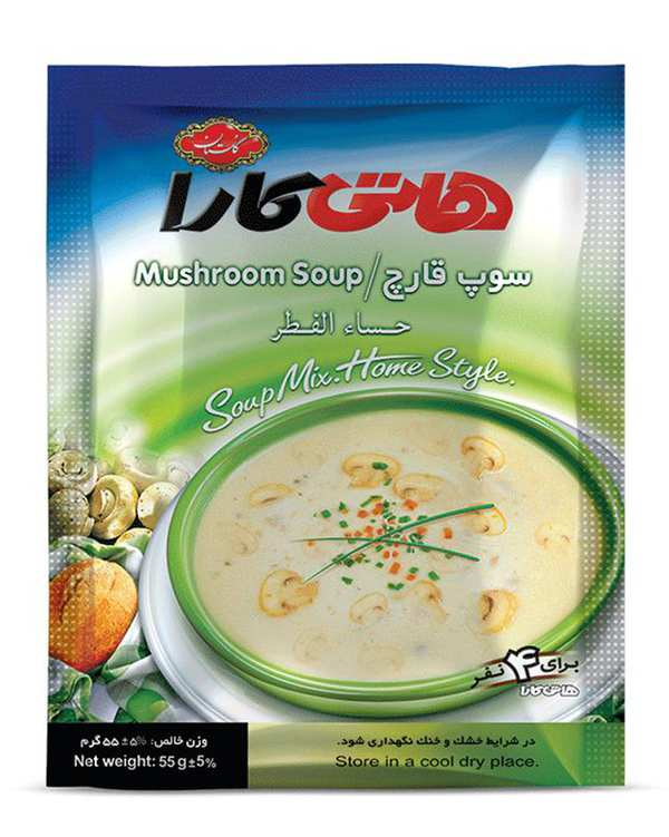 سوپ قارچ 55 گرمی هاتی کارا