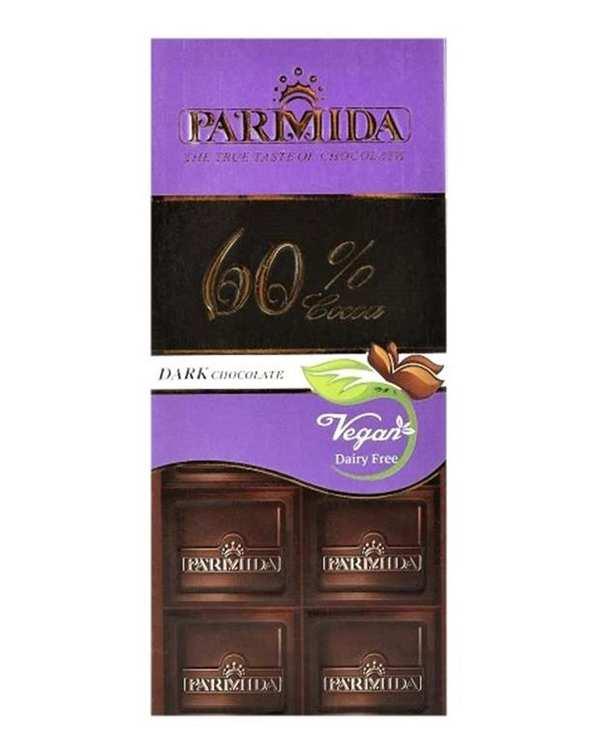 شکلات تلخ 60 درصد 80 گرمی پارمیدا