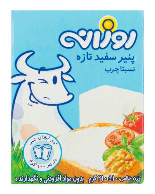 پنیر نسبتا چرب 210 گرمی روزانه