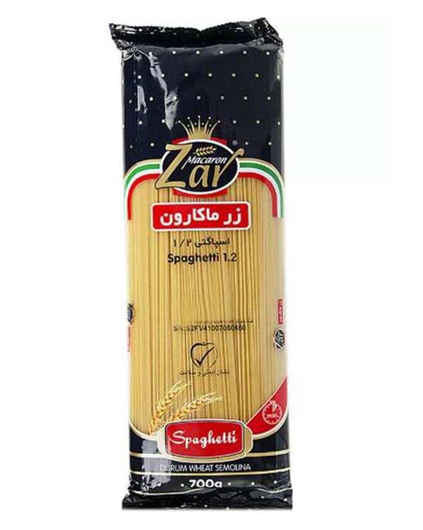 اسپاگتی قطر 1.2 رشته ای 700 گرمی زر ماکارون