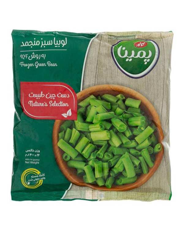 لوبیا سبز منجمد 400 گرمی پمینا