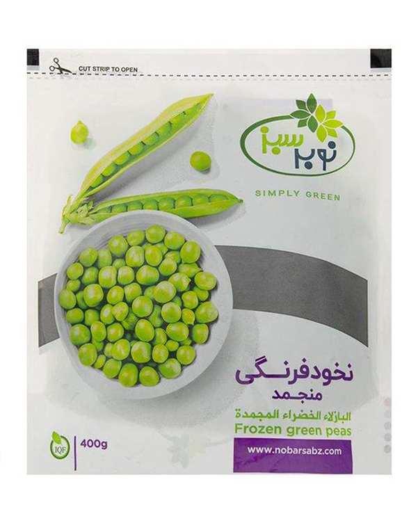 نخود فرنگی منجمد 400 گرمی نوبر سبز