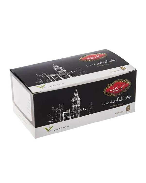 چای سیاه کیسه ای معطر ارل گری گلستانبسته 50 عددی