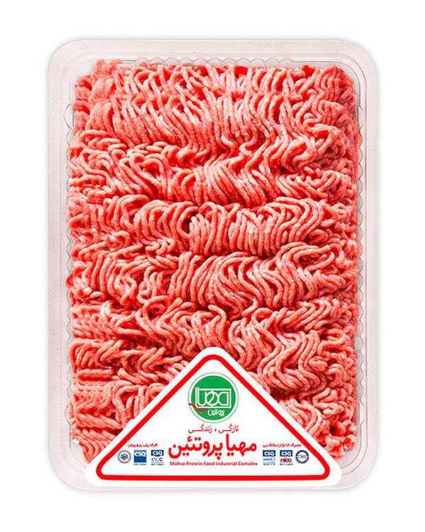 گوشت چرخکرده مخلوط گوساله و گوسفند 1 کیلویی مهیا پروتئین