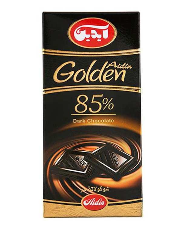شکلات تلخ 85% گلدن 100 گرمی آیدین