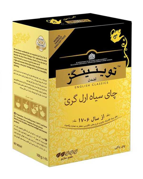 چای سیاه انگلیسی ارل گری 100 گرمی توینینگز