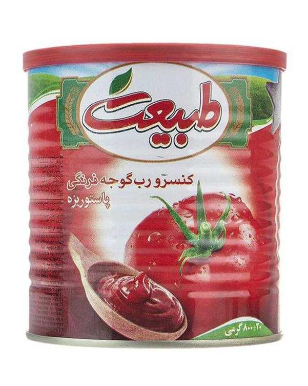 کنسرو رب گوجه فرنگی 800 گرمی طبیعت