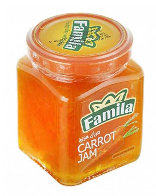 مربا هویج رنده شده 300 گرمی فامیلا