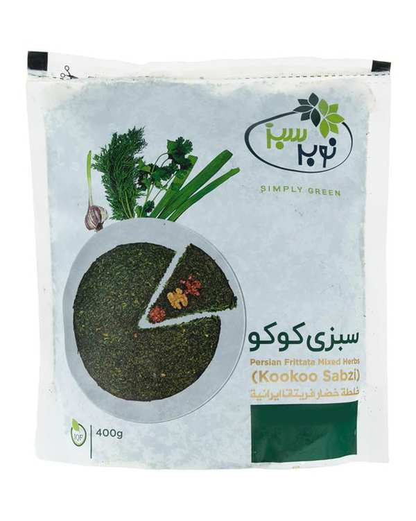 سبزی کوکو منجمد 400 گرمی نوبر سبز