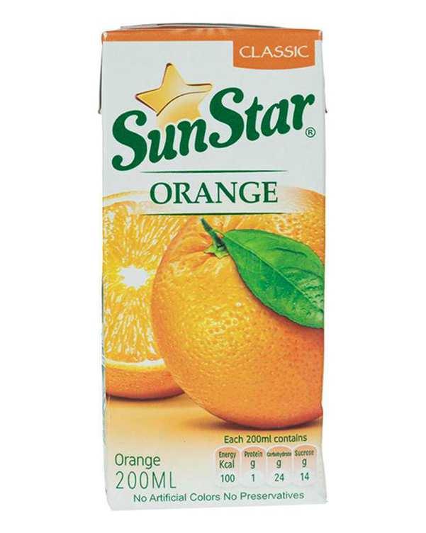 نوشیدنی پرتقال 200 میلی لیتری سان استار