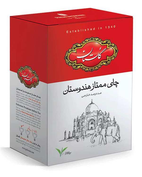 چای ممتاز هندوستان 100 گرمی گلستان