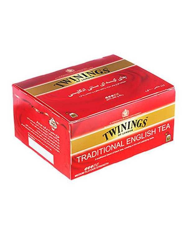 چای سیاه کیسهای سنتی انگلیسی تویینینگز بسته 50 عددی