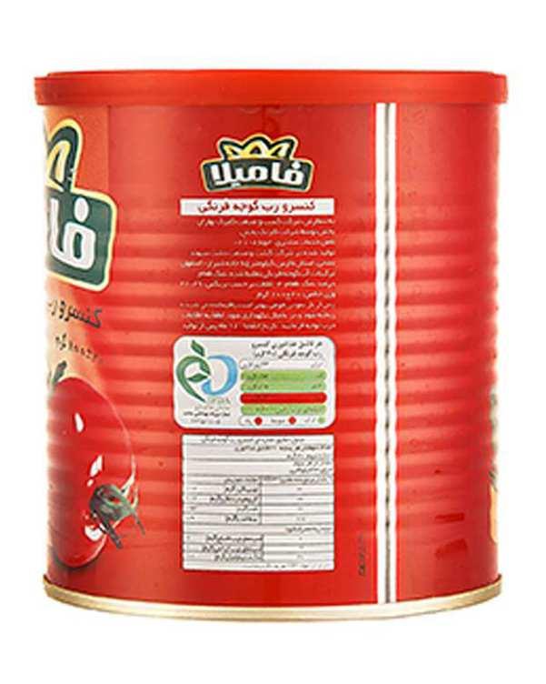 کنسرو رب گوجه فرنگی 800 گرمی فامیلا