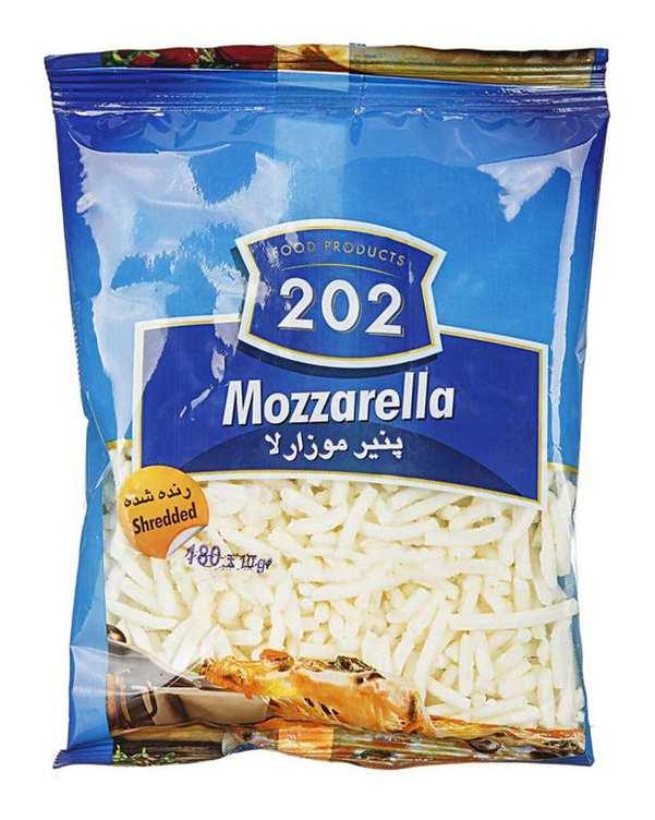 پنیر پیتزا موزارلا رنده شده 180 گرمی 202