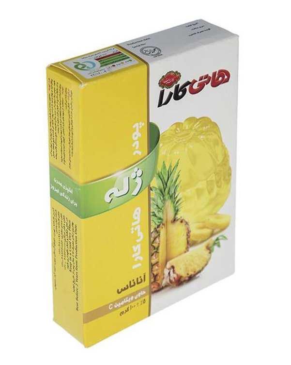 پودر ژله آناناس 100 گرمی هاتی کارا